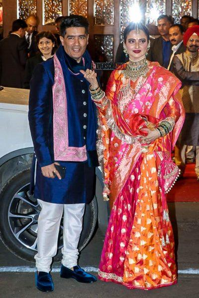 Rekha At Isha Ambani–Anand Piramal Wedding Ceremony