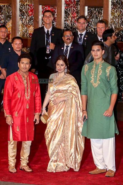 Sachin Tendulkar  At Isha Ambani–Anand Piramal Wedding Ceremony