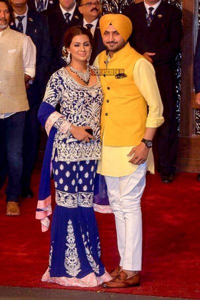 Harbajan Singh At Isha Ambani–Anand Piramal Wedding Ceremony