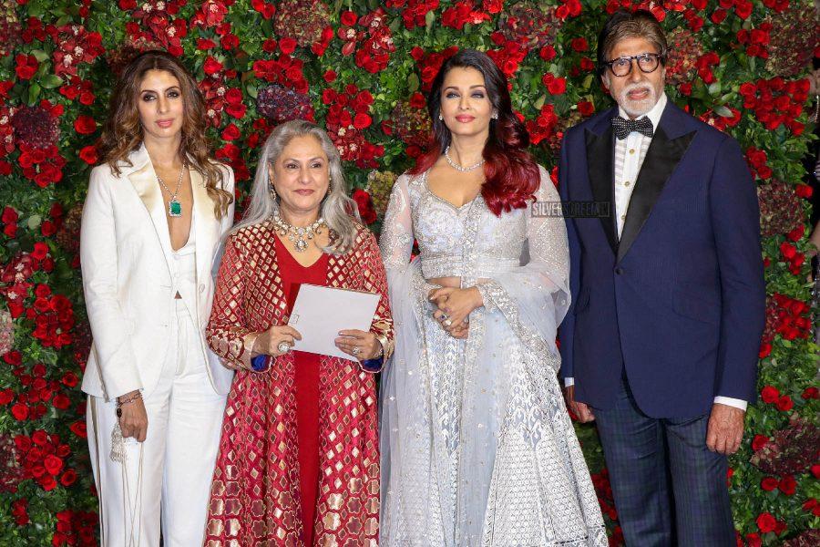 Amitabh Bachchan, Aishwarya Rai At The Ranveer Singh, Deepika Padukone Wedding Reception
