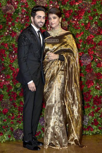 Ayushmann Khurrana At The Ranveer Singh, Deepika Padukone Wedding Reception
