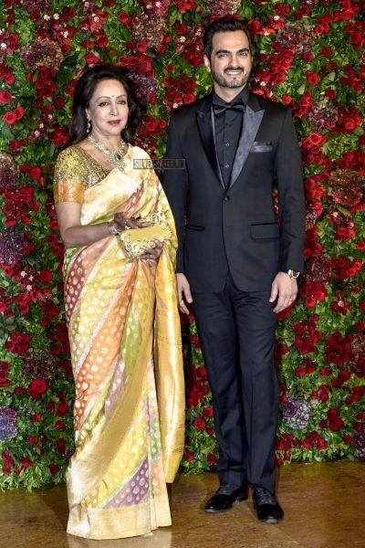 Hema Malini At The Ranveer Singh, Deepika Padukone Wedding Reception
