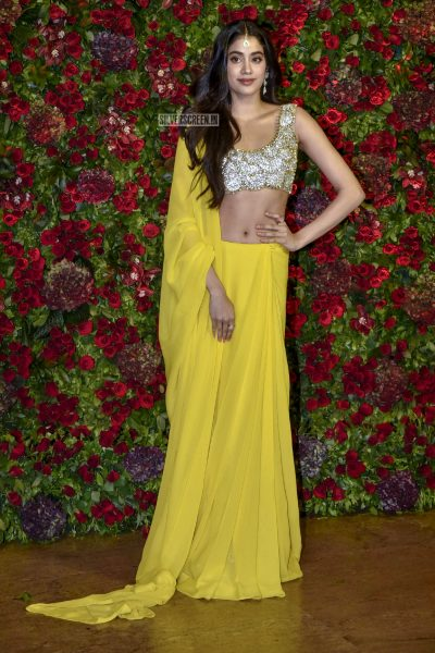 Jhanvi Kapoor At The Ranveer Singh, Deepika Padukone Wedding Reception