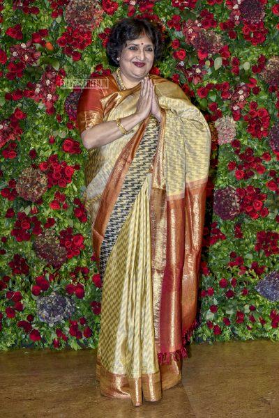 Latha Rajinikanth At The Ranveer Singh, Deepika Padukone Wedding Reception