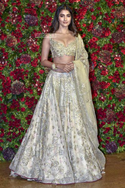 Pooja Hegde At The Ranveer Singh, Deepika Padukone Wedding Reception