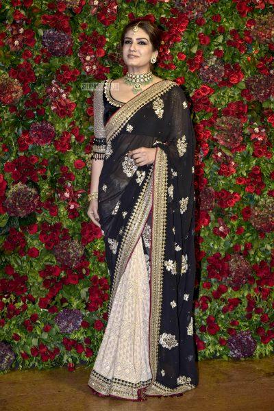 Raveena Tandon At The Ranveer Singh, Deepika Padukone Wedding Reception