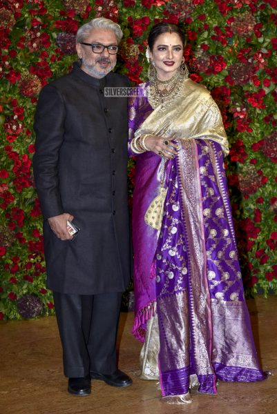 Rekha At The Ranveer Singh, Deepika Padukone Wedding Reception