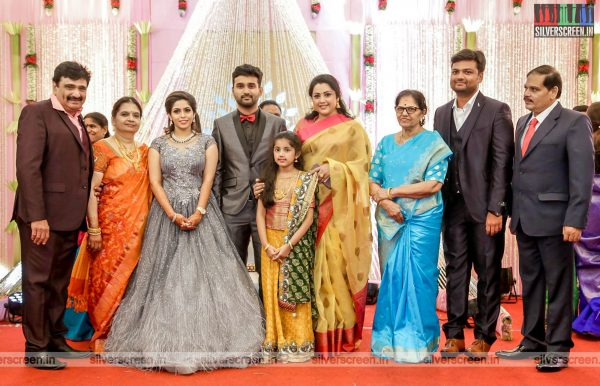 Meena & Baby Naika At The RS Jashwanth Kannan-K Priyanka Wedding Reception