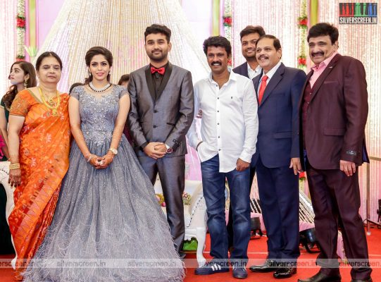 Cheran At The RS Jashwanth Kannan-K Priyanka Wedding Reception