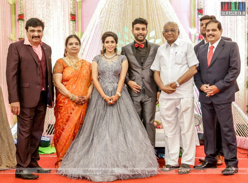 SP Muthuraman At The RS Jashwanth Kannan-K Priyanka Wedding Reception