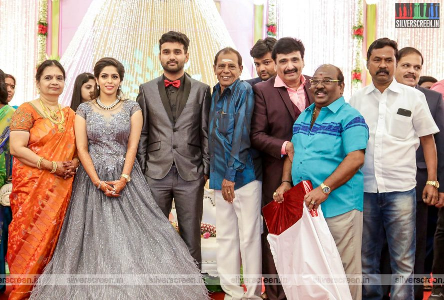 TP Gajendran At The RS Jashwanth Kannan-K Priyanka Wedding Reception