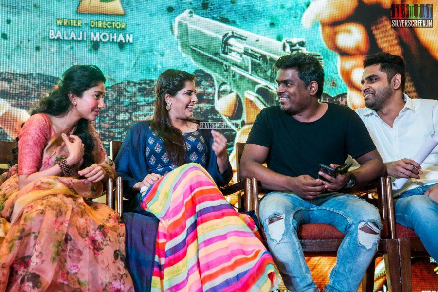 Sai Pallavi, Varalaxmi, Yuvan Shankar Raja At The 'Maari 2' Press Meet
