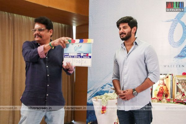 KS Ravikumar, Dulquer Salmaan At The Vaan Movie Launch