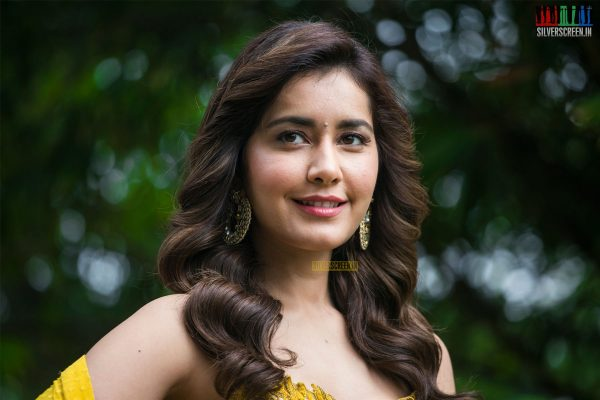 Raashi Khanna At The 'Adanga Maru' Press Meet