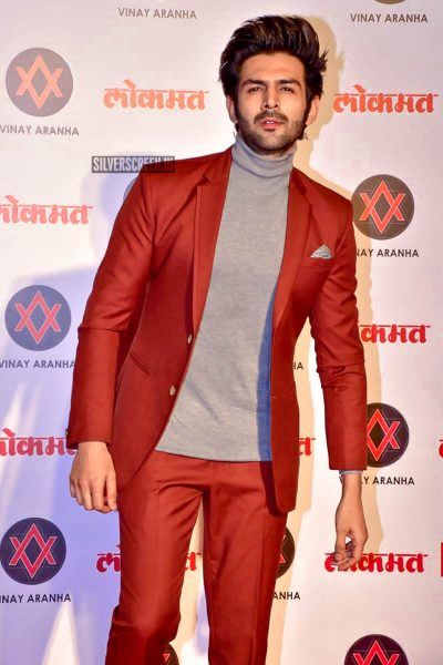 Kartik Aaryan At The Lokmat Most Stylish Awards 2018