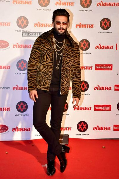 Ranveer Singh At The Lokmat Most Stylish Awards 2018