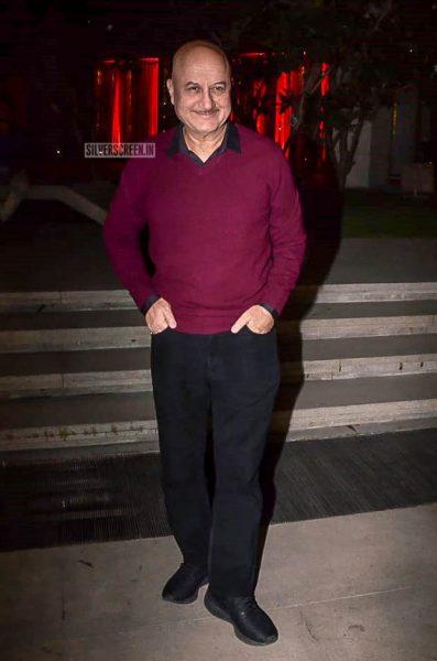 Anupam Kher At Anil Kapoor's Birthday Bash