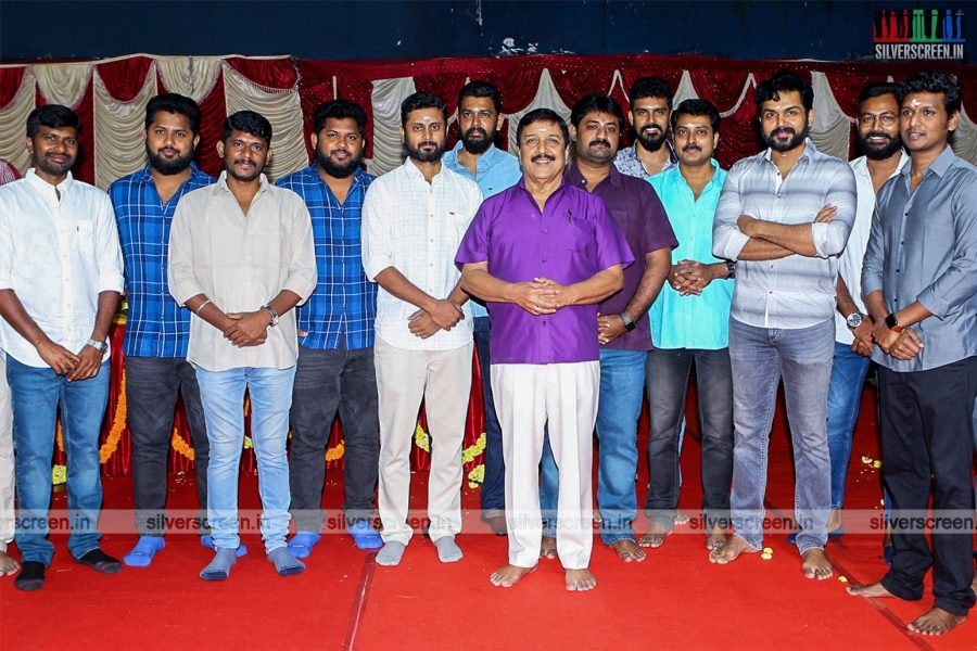 Karthi, Lokesh Kanagaraj At The 'Karthi 18' Movie Launch