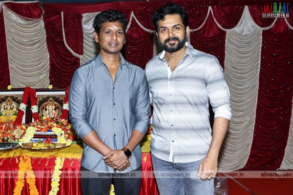 Karthi, Lokesh Kanagaraj At The 'Karthi 18' Movie Launch