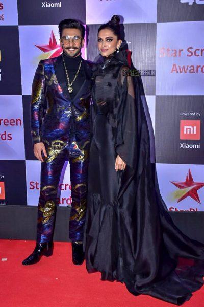 Ranver Singh, Deepika Padukone At The 'Star Screen Awards 2018'