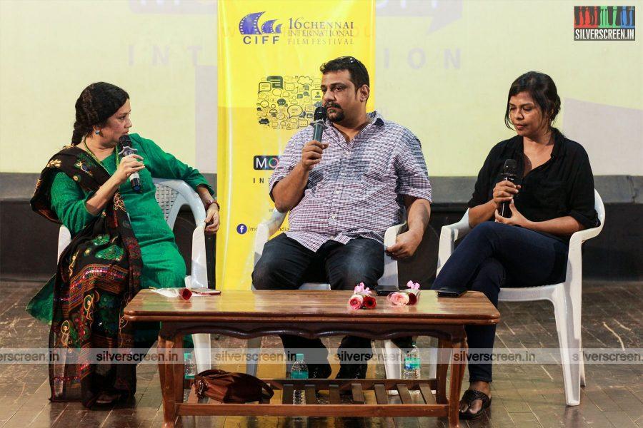 Pushkar Gayathri At The 16th Chennai International Film Festival Red Carpet
