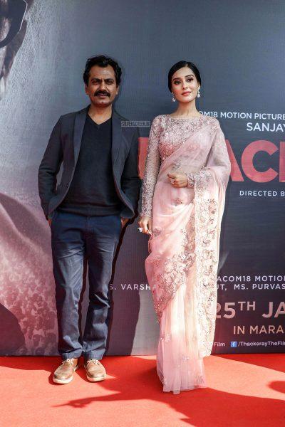 Nawazuddin Siddiqui, Amrita Rao At The 'Thackeray' Trailer Launch