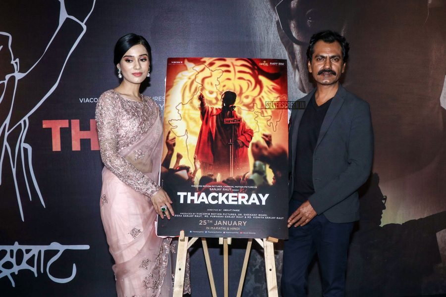 Nawazuddin Siddiqui, Amrita Rao At The 'Thackeray' Trailer Launch