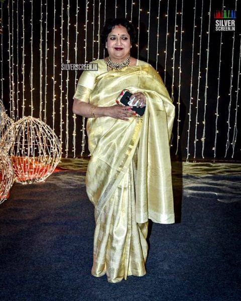 Latha Rajinikanth At Priyanka Chopra And Nick Jonas Wedding Reception