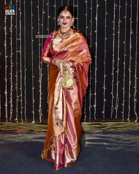 Rekha At Priyanka Chopra And Nick Jonas Wedding Reception