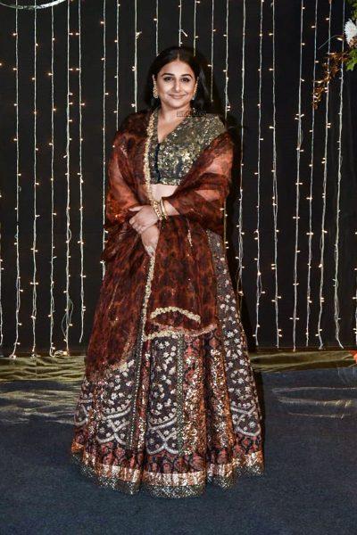 Vidya Balan At Priyanka Chopra And Nick Jonas Wedding Reception