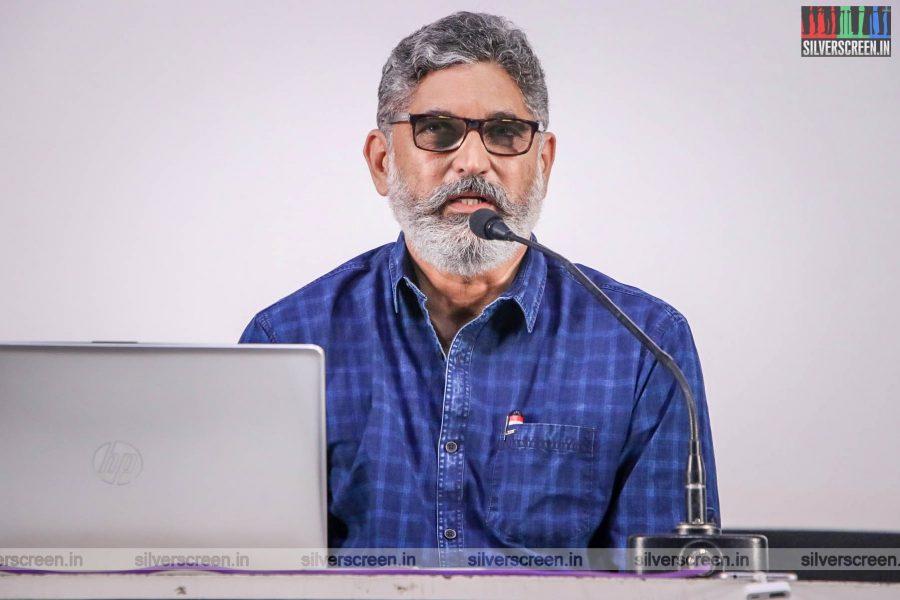 Suresh Menon At An App Launch