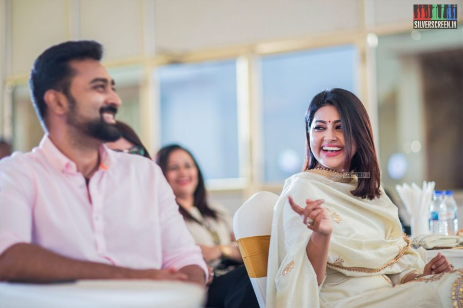 Sneha, we hear, is a big fan of spousal humour. This time thankfully, the joke is on the husband. At the launch of White Villas, Oragadam.