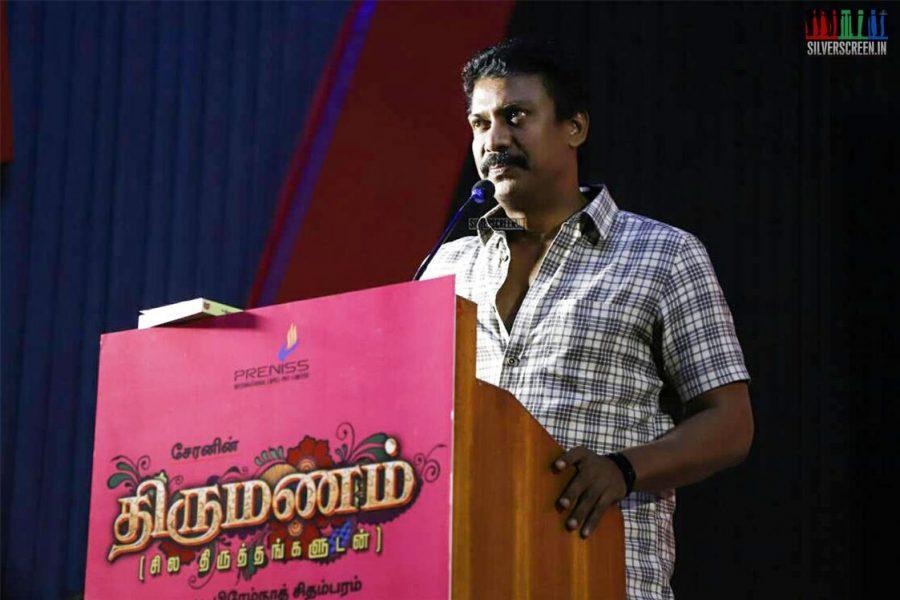 Samuthirakani At Director Cheran's 'Thirumanam' Movie Launch