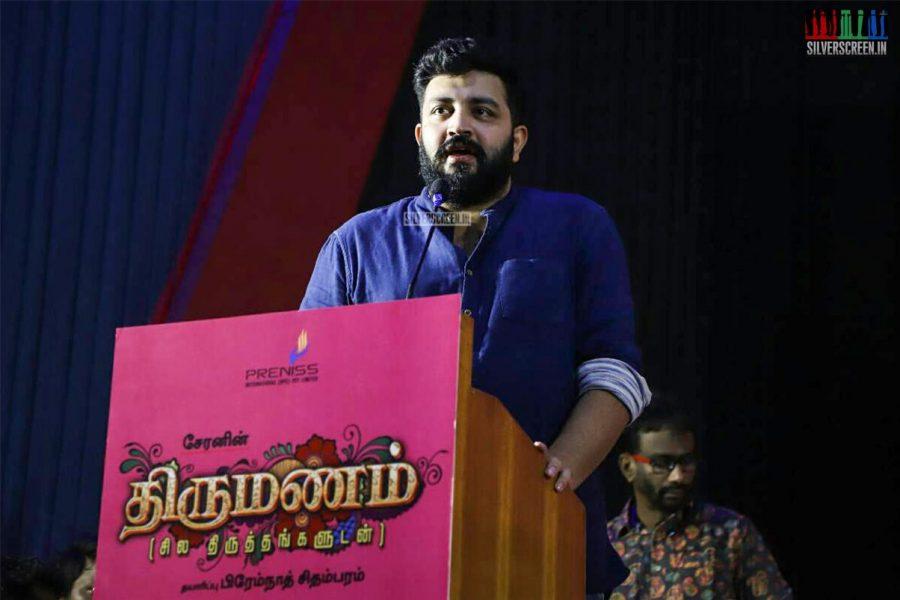 Siddarth Vipin At Director Cheran's 'Thirumanam' Movie Launch