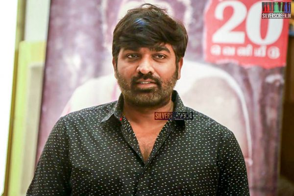 Vijay Sethupathi At The Seethakaathi Press Meet In Chennai