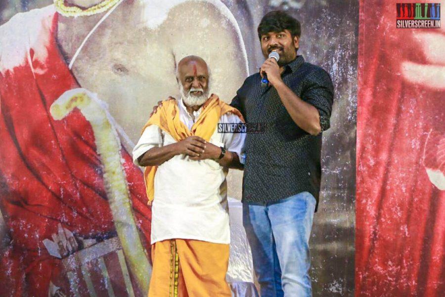 Vijay Sethupathi At The Seethakaathi Press Meet In Chennai