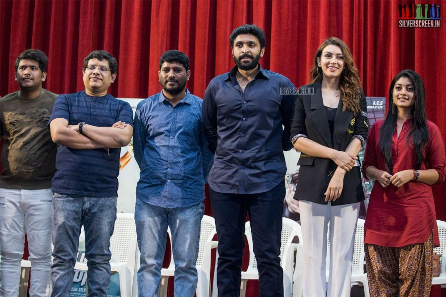 Vikram Prabhu, Hansika Motwani, Abhirami At The 'Thuppakki Munai' Press Meet