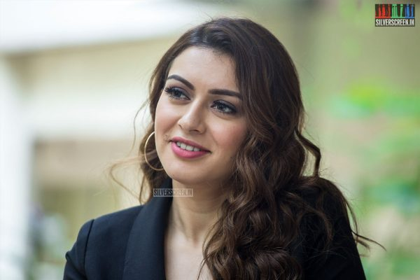 Hansika Motwani At The 'Thuppakki Munai' Press Meet