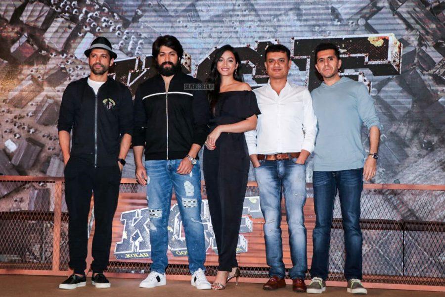 Yash, Srinidhi Shetty, Farhan Akhtar At The KGF Trailer Launch