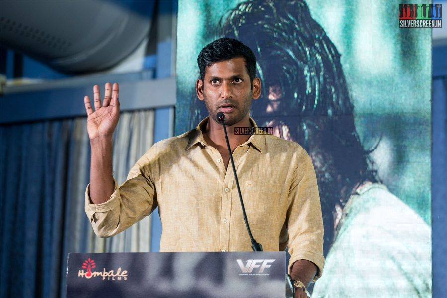 Vishal At The 'KGF' Press Meet In Chennai