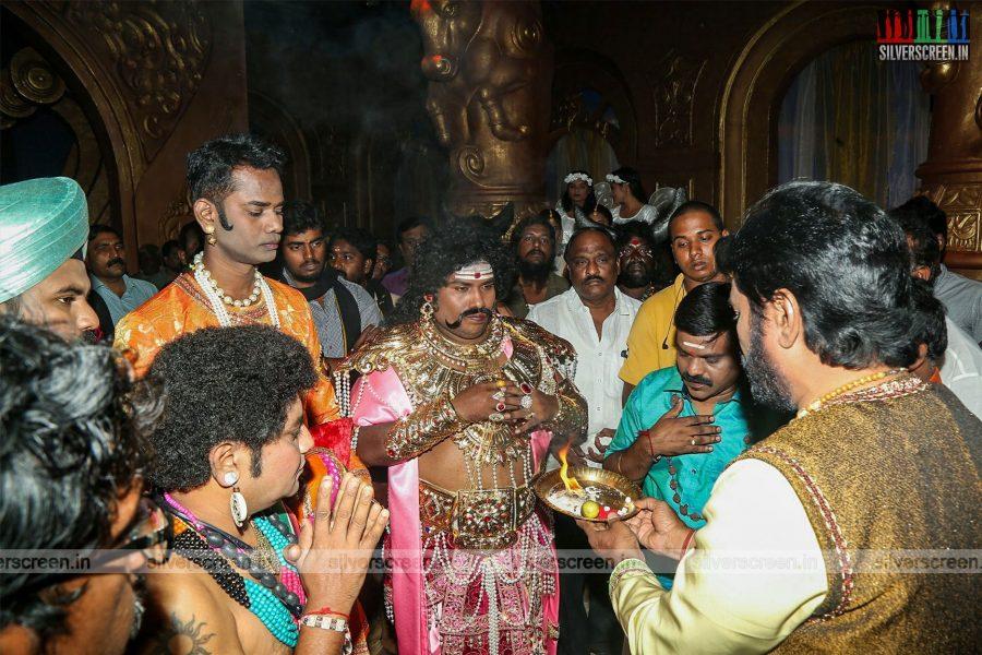 Yogi Babu At The 'Dharma Prabhu' Movie Launch