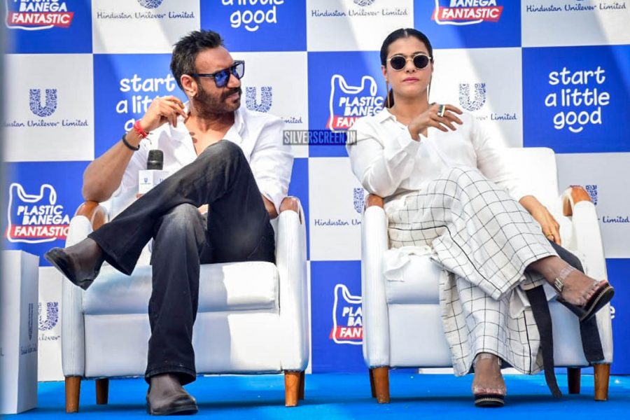 Ajay Devgn & Kajol At The '#PlasticBanegaFatastic' Event