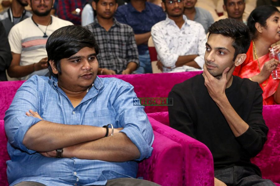 Anirudh Ravichander, Karthik Subbaraj At The 'Petta' Audio Launch