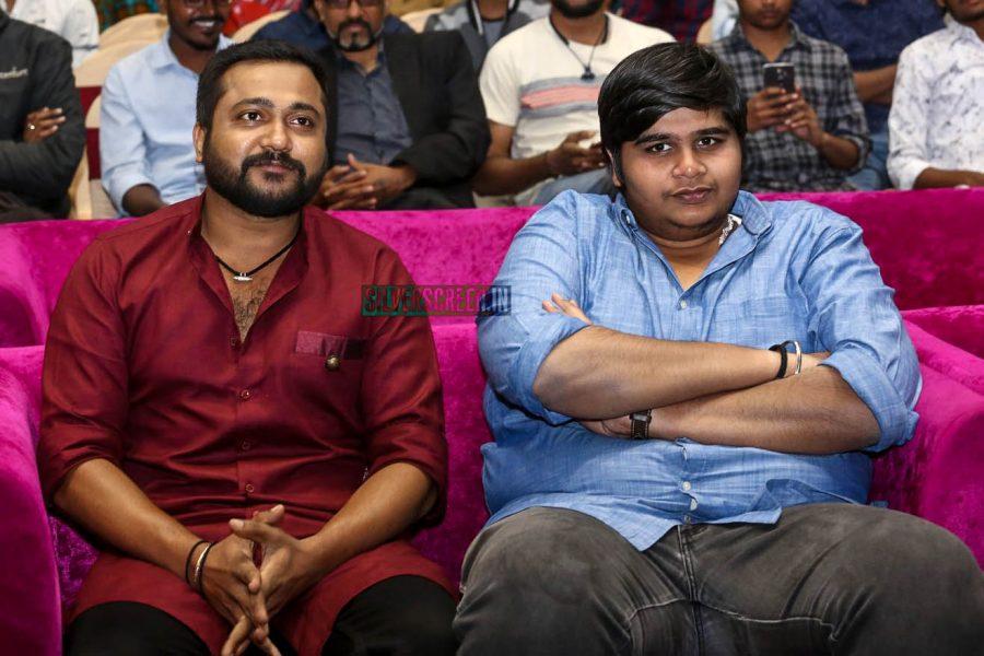 Bobby Simha, Karthik Subbaraj At The 'Petta' Audio Launch