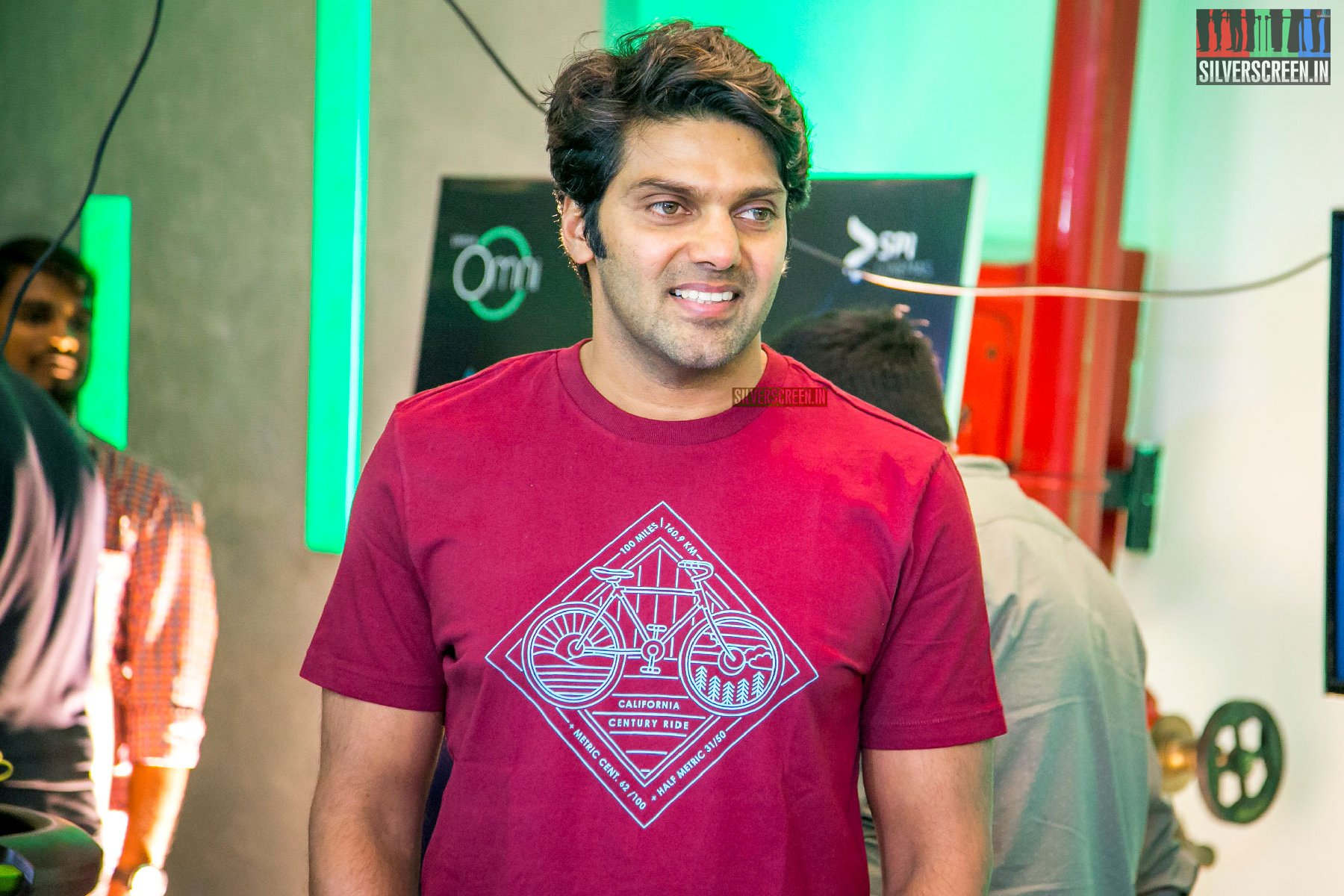 Arya At The Launch Of A VR Game In Chennai