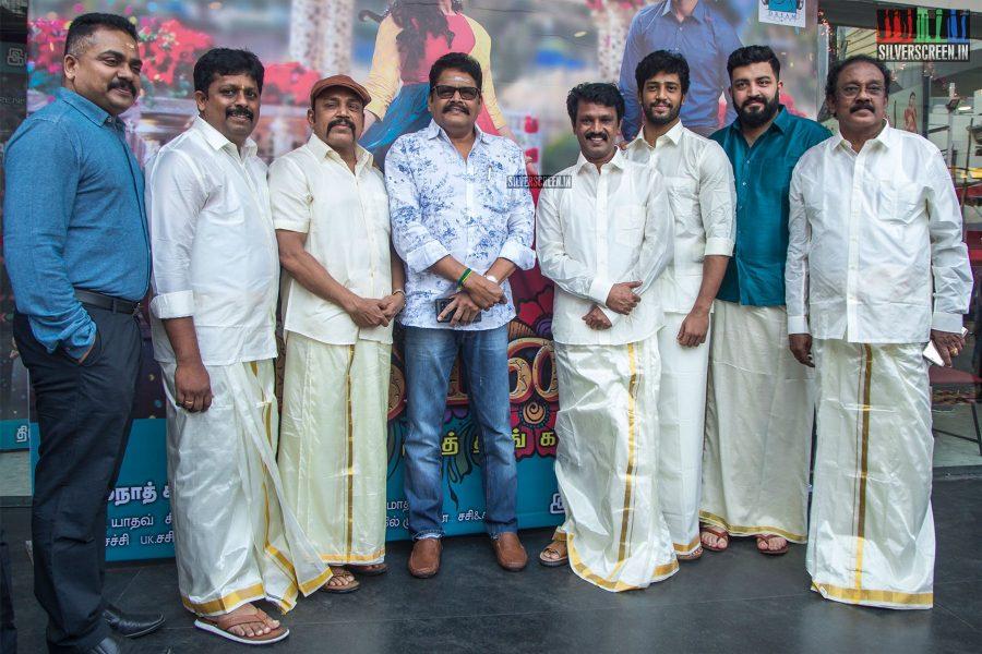 Cheran, KS Ravikumar, Thambi Ramaiah At The 'Thirumanam' Audio Launch
