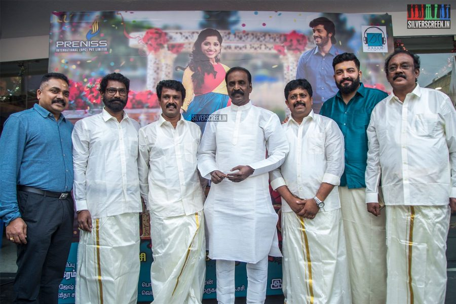 Cheran, Vairamuthu At The 'Thirumanam' Audio Launch