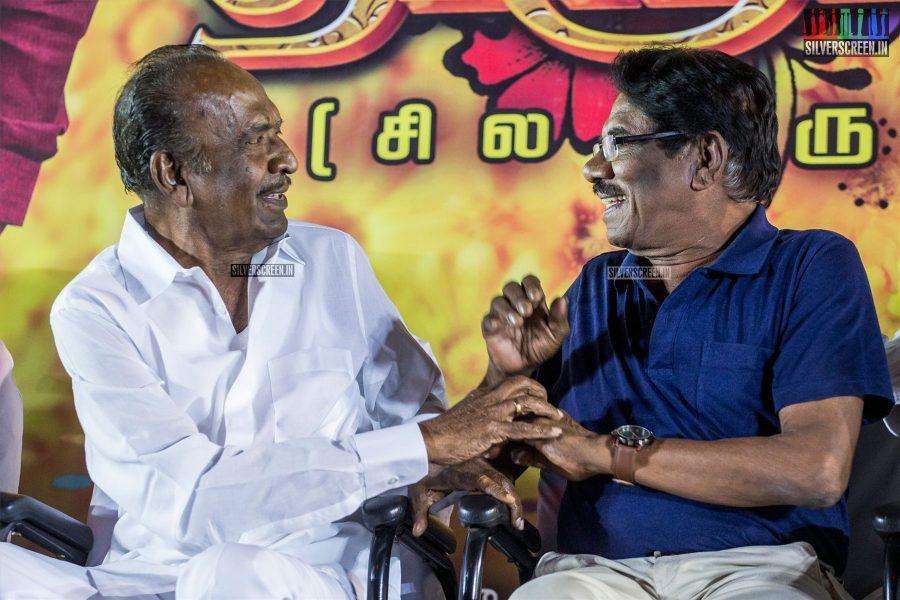 J Mahendran, P Bharathiraja At The 'Thirumanam' Audio Launch