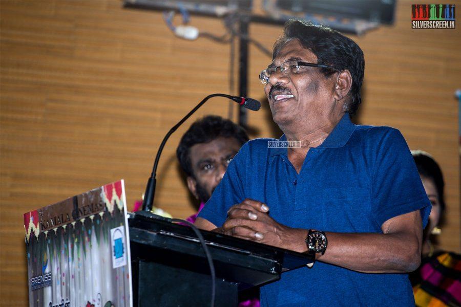 P Bharathiraja At The 'Thirumanam' Audio Launch