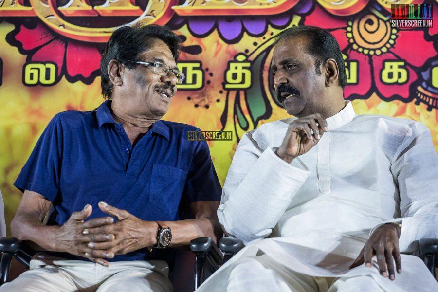 P Bharathiraja, Vairamuthu At The 'Thirumanam' Audio Launch
